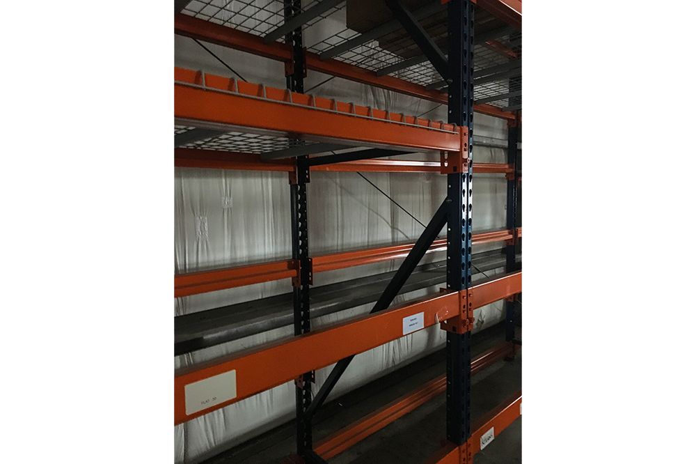 Used Interlake-Mecalux Racking disassembling now in Johnston, RI