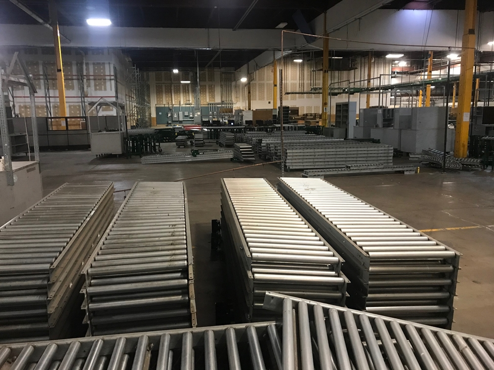 View of conveyor material liquidated from Alabama facility