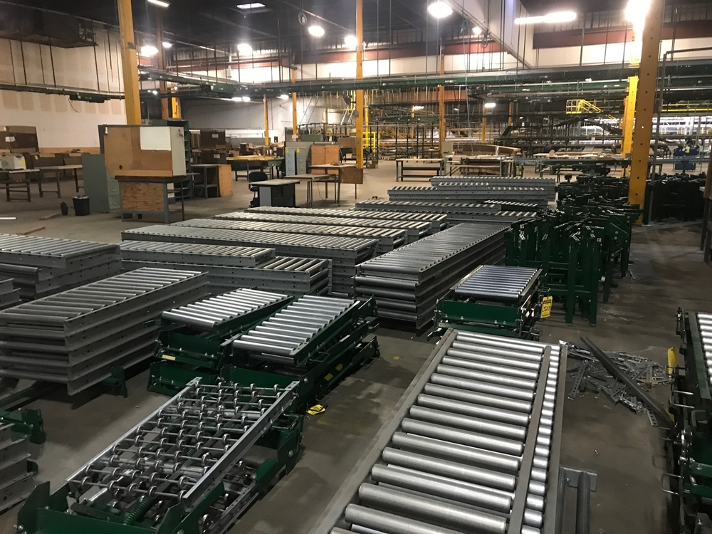 Alternate view of conveyor material liquidated from Alabama facility