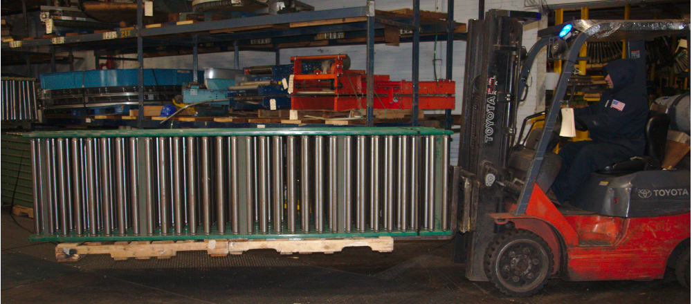 gravity roller conveyor from Rockford, IL