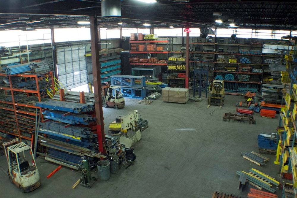aerial view fabrication shop