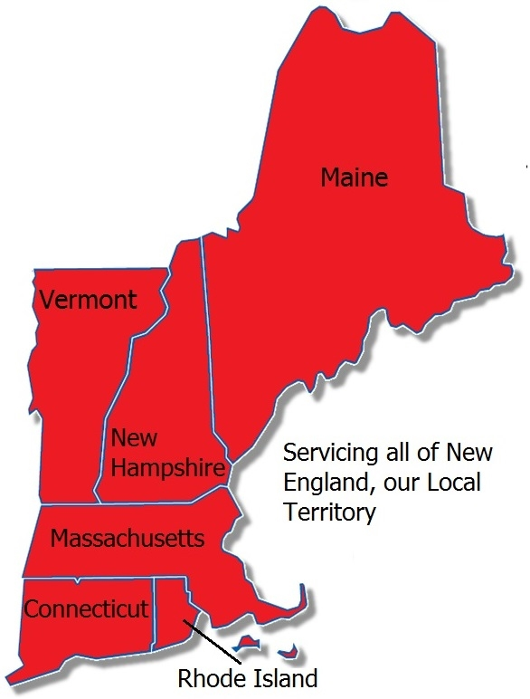 Servicing Massachusetts, Connecticut, Rhode Island, Vermont, New Hampshire, and Maine