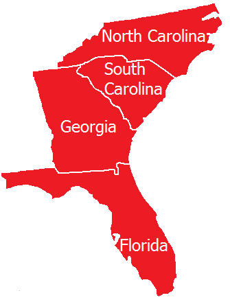 Servicing North Carolina, South Carolina, Georgia, and Florida