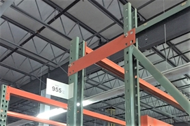 Used Pallet Rack Row Spacers