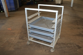 Used Steel Tray Cart