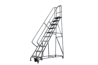 Used 10-Step Rolling Ladders