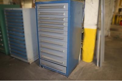 Used 12 Drawer Stanley Vidmar Cabinet