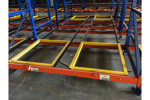 Used 2 Deep x 3 High Pushback Rack