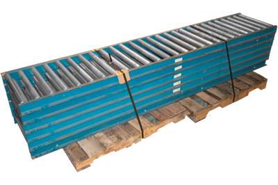 "Used 48"" Wide Gravity Roller Conveyor"