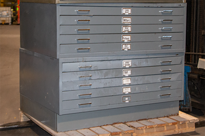 Safco 5 Drawer Flat File Cabinets
