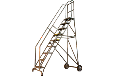 9-Step Tilt-Roll Style Tri-Arc Rolling Ladder