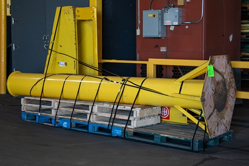 Used Abell-Howe Jib Crane Palletized for Shipping