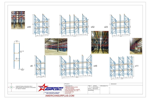 Used Drive In Rack CAD Layouts