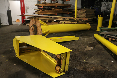 Used 3-Ton Abell-Howe Jib Crane Disassembled