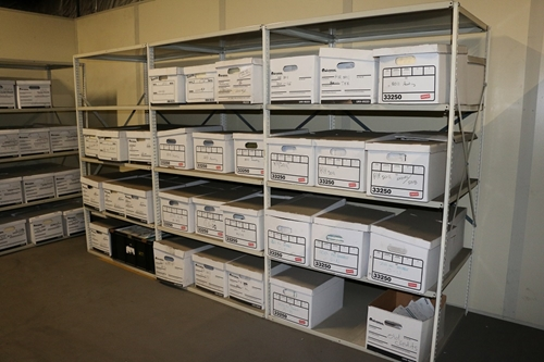 Used Record Storage Shelving