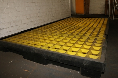 Used Drum Spill Containment Pallet