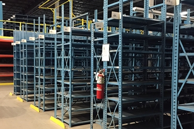 Used Open Industrial Shelving