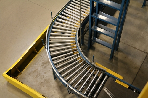 Used Gravity Roller Conveyor Curves