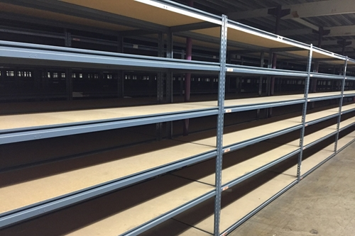 used rivet shelving