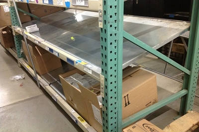 Used Tilt Shelving - Unex Pick Shelves