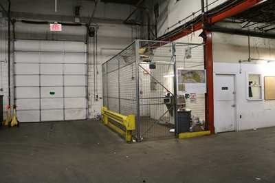"Used Wire Security Cage - 120"" Tall"