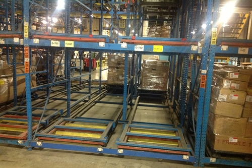 Used Push Back Rack Systems