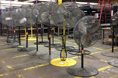 Used Air King Pedestal Fans