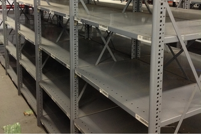 Used Steel Shelving - Clip Shelving