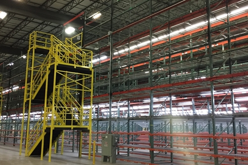 used pallet rack supported mezzanine