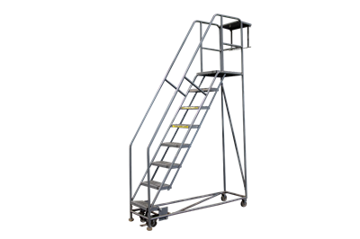 "8-Step 20"" Deep-Top Tri-Arc Rolling Ladders"
