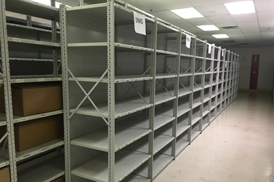 "Used Steel Shelving - 24"" Deep"