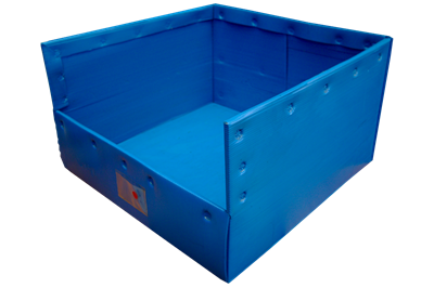 Used Corrugated Bin with Hopper Front