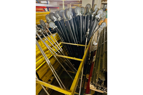 Used Mobile Wire Shelving Posts