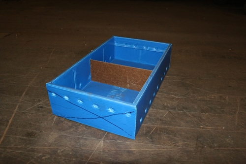 Used Blue Corrugated Bins (Wide)