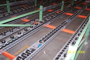 Used Poly Wheel Pallet Flow Rails