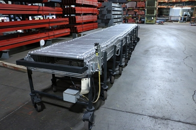 Used Powered Flexible Roller Conveyor