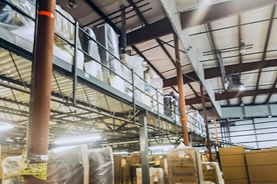 Used Steel Mezzanine - 16,125 Sq. Feet