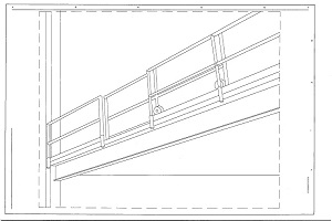 Used Mezzanine Gate- Sliding