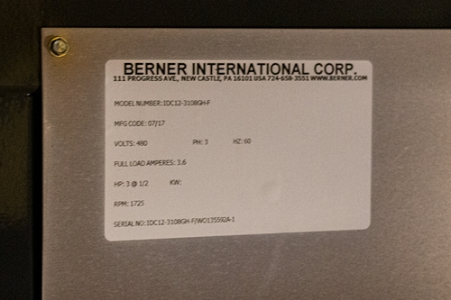 Berner IDC12 Series Gas Heated Air Curtain
