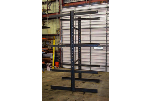Used Burtman Cantilever Rack - Side View
