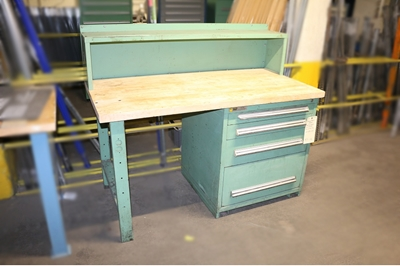 "Used Butcher Block Workbench - 30""D with Vidmar"