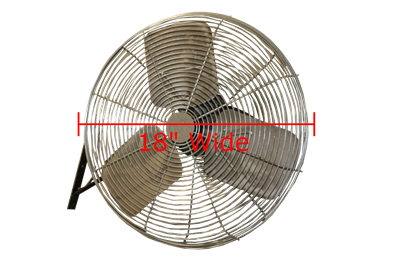 Used Dayton Wall Mounted Fans - 18""