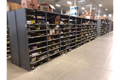 "Used Lyons Closed Steel Shelving -- 18"" x 36"""