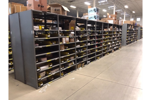 Used Lyons Closed Steel Shelving