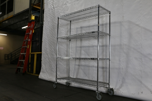Wire Shelving with wheels