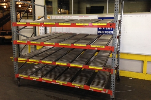 Used Mobile Gravity Carton Flow Rack
