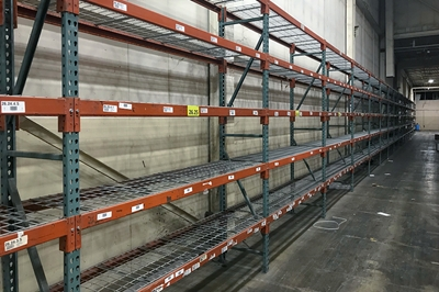 Light-Duty Teardrop Pallet Rack Liquidation