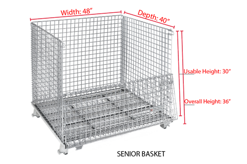 Senior WorldTainer Wire Baskets