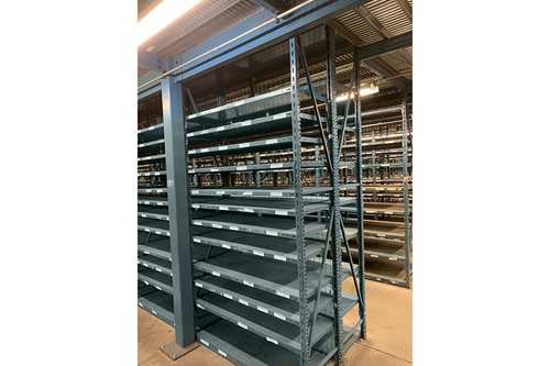 multiple bays of republic shelving
