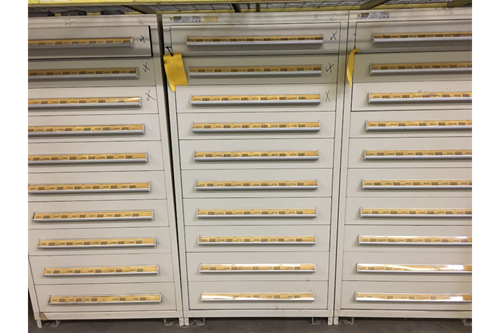 used stanley vidmar 10 drawer